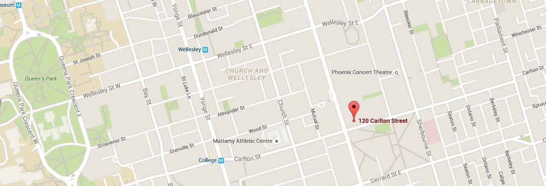 Map of Zentai Wellness Centre, Toronto